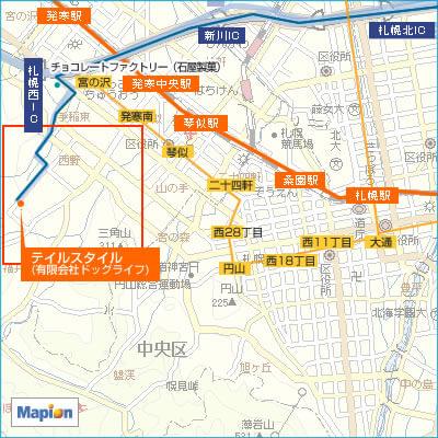 札幌駅から公共交通機関を利用してのアクセス